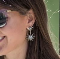 User Generated Content for Aster Linnea Earrings in Silver and Gunmetal