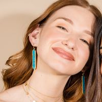 User Generated Content for Ava Rose Austin Earrings in Gold and Copper Turquoise