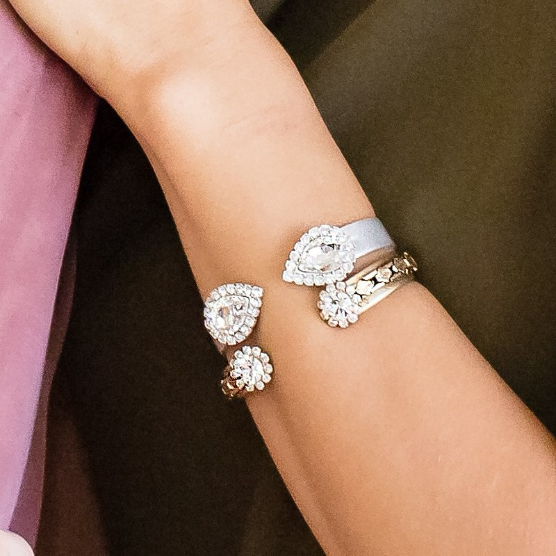 User Generated Content for Loren Hope Small Sara Cuff in Silver and Crystal