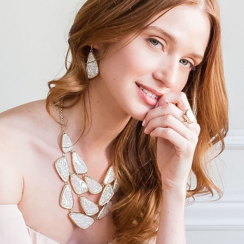 User Generated Content for Ava Rose Aurora Earrings in Crushed Pearl