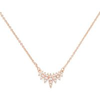 Model Content for Sophie Harper Pavé Marquise Pendant in Rose Gold