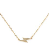 Model Content for Sophie Harper Lightning Bolt Necklace in Gold