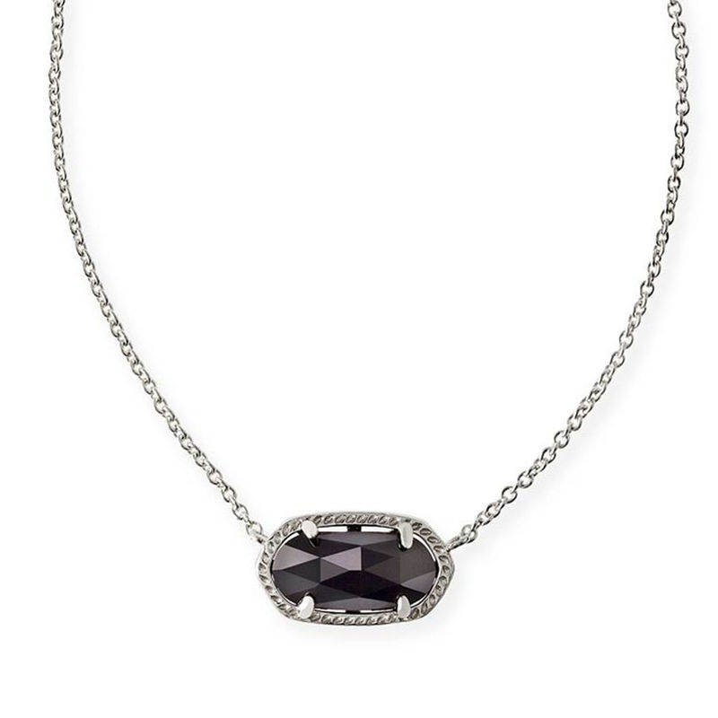 Kendra Scott Elisa Necklace in Rhodium and Black