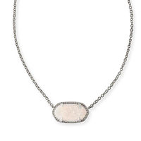 Model Content for Kendra Scott Elisa Necklace in Silver and Iridescent Druzy