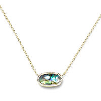 Model Content for Kendra Scott Elisa Necklace in Gold Abalone