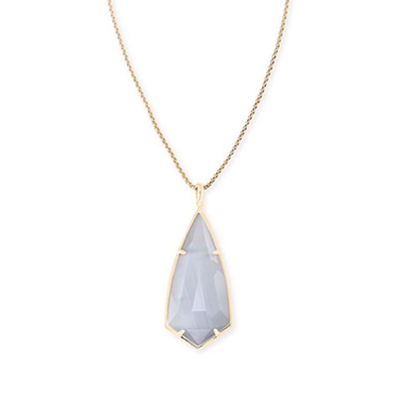 Kendra Scott Carole Necklace in Gold and Slate Cat's Eye
