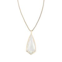Model Content for Kendra Scott Carole Necklace in Ivory Mother of Pearl