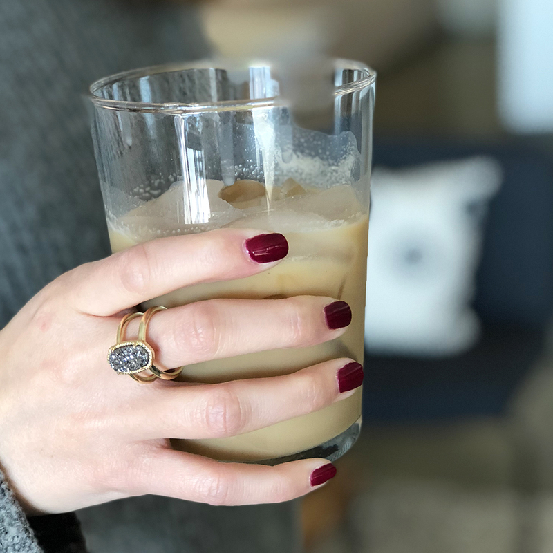 User Generated Content for Kendra Scott Elyse Ring in Silver and Platinum Druzy