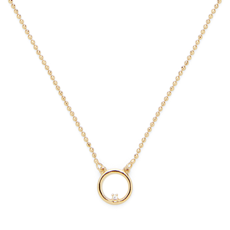 Sophie Harper Delicate Circle and Crystal Necklace