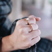 User Generated Content for Aster Cosmos Ring in Moonstone