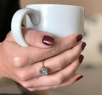 User Generated Content for Aster Zinnia Ring in Gold & Silver Druzy