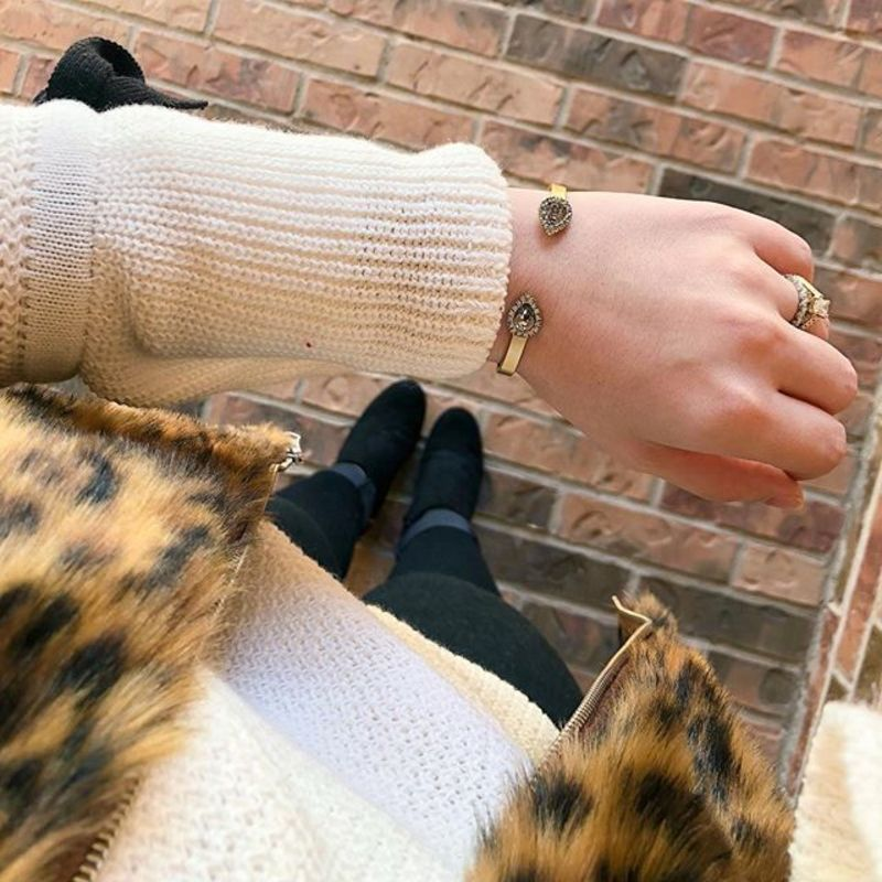 User Generated Content for Loren Hope Mini Sarra Cuff in Crystal
