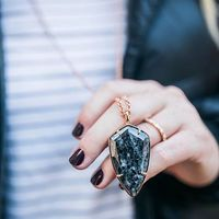 User Generated Content for Ava Rose Camden Necklace in Rose Gold and Lavrakite