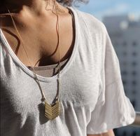 User Generated Content for SLATE Demi Chevron Pendant Necklace
