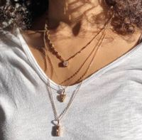 User Generated Content for Aster Ren Layered Necklace in Rose Gold & Rose Druzy