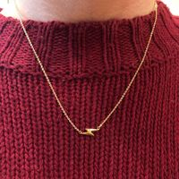 User Generated Content for Sophie Harper Lightning Bolt Necklace in Gold