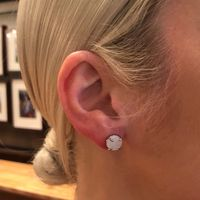 User Generated Content for Ava Rose Charlotte Studs in Gold and Platinum Druzy