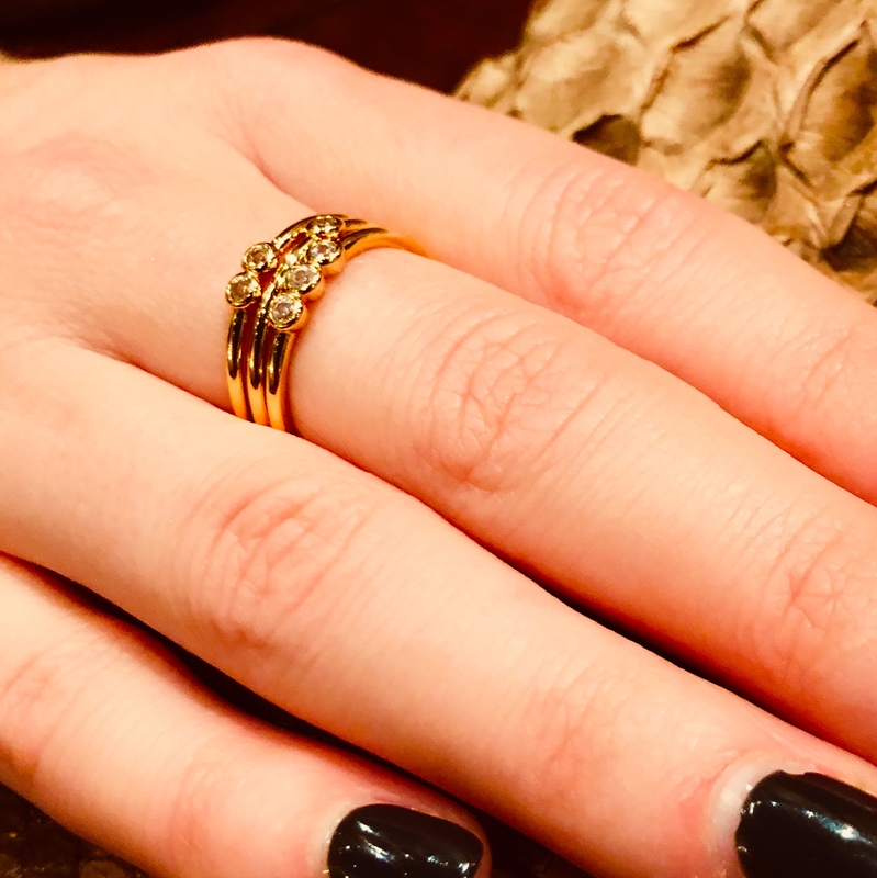 User Generated Content for Sophie Harper Pave Circle Ring Set