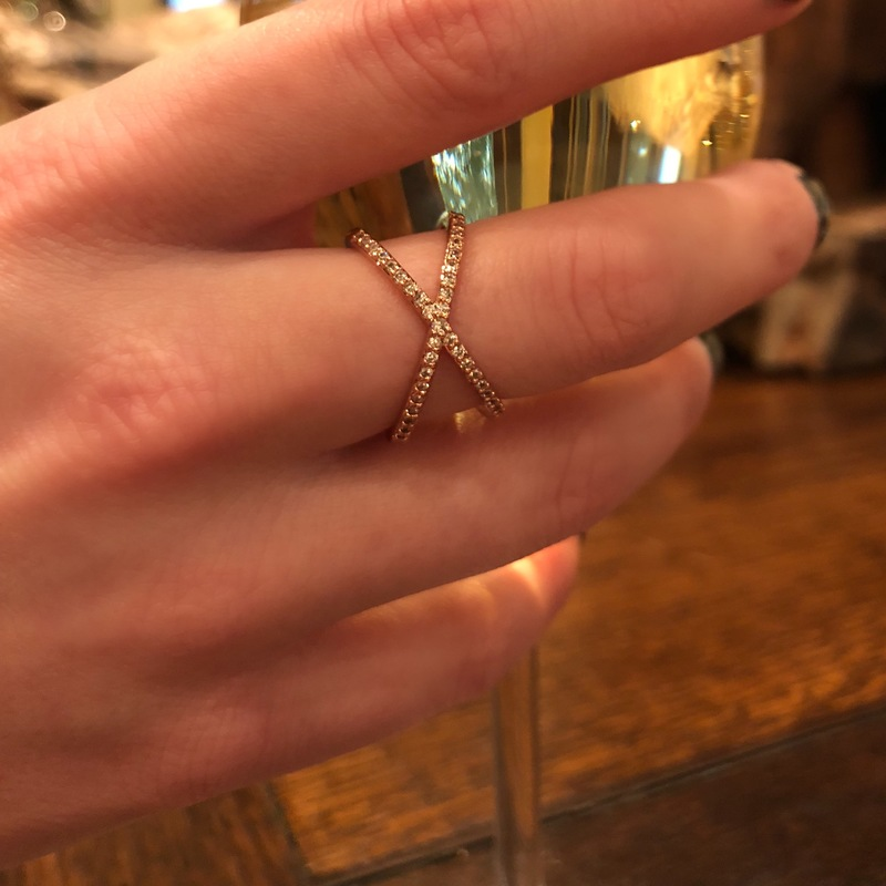 User Generated Content for Sophie Harper Pave X Ring in Rose Gold