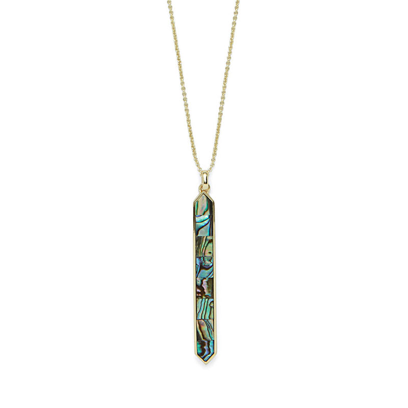 Ava Rose Austin Necklace in Gold and Abalone