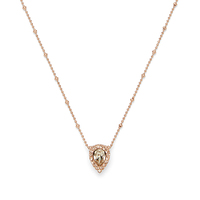 Model Content for Loren Hope Jamie Necklace in Rose Gold