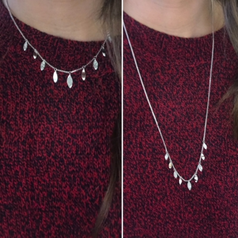 User Generated Content for Aster Foxglove Charm Necklace in Silver