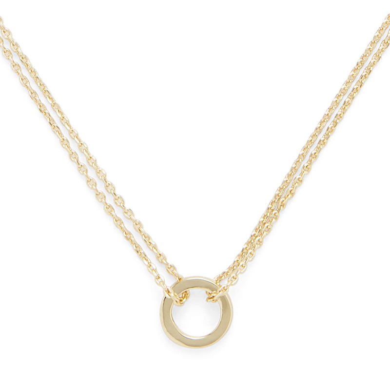 Sophie Harper Double Chain Circle Necklace