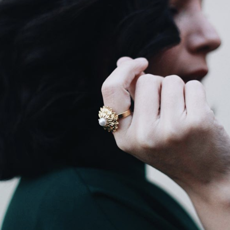 User Generated Content for Perry Street Floral Pearl Ring