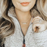 User Generated Content for Kendra Scott Leanor Bar Pendant Necklace In Platinum Drusy