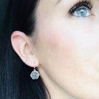 User Generated Content for Ava Rose Madison Earrings in Silver and Platinum Druzy