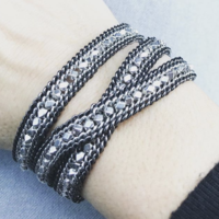 User Generated Content for Nakamol Convertible Wrap Bracelet and Choker in Gunmetal and Silver