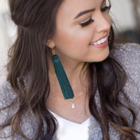 User Generated Content for Perry Street Nova Fringe Earrings in Evergreen