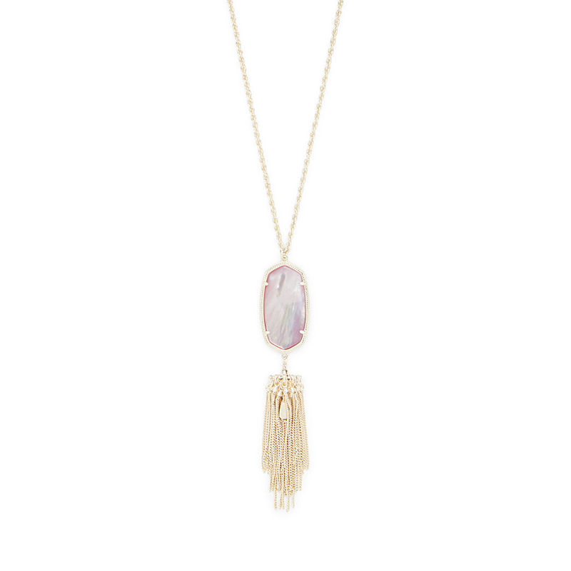 Kendra Scott Rayne Necklace in Gold and Blush Mother of Pearl