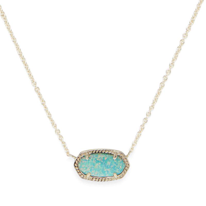 Kendra Scott Elisa Necklace in Gold and Aqua Opal