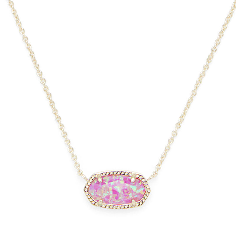 Kendra Scott Elisa Necklace in Gold and Fuchsia Opal