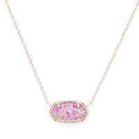 Model Content for Kendra Scott Elisa Necklace in Gold and Fuchsia Opal