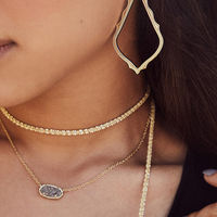User Generated Content for Kendra Scott Elisa Necklace in Gold and Fuchsia Opal