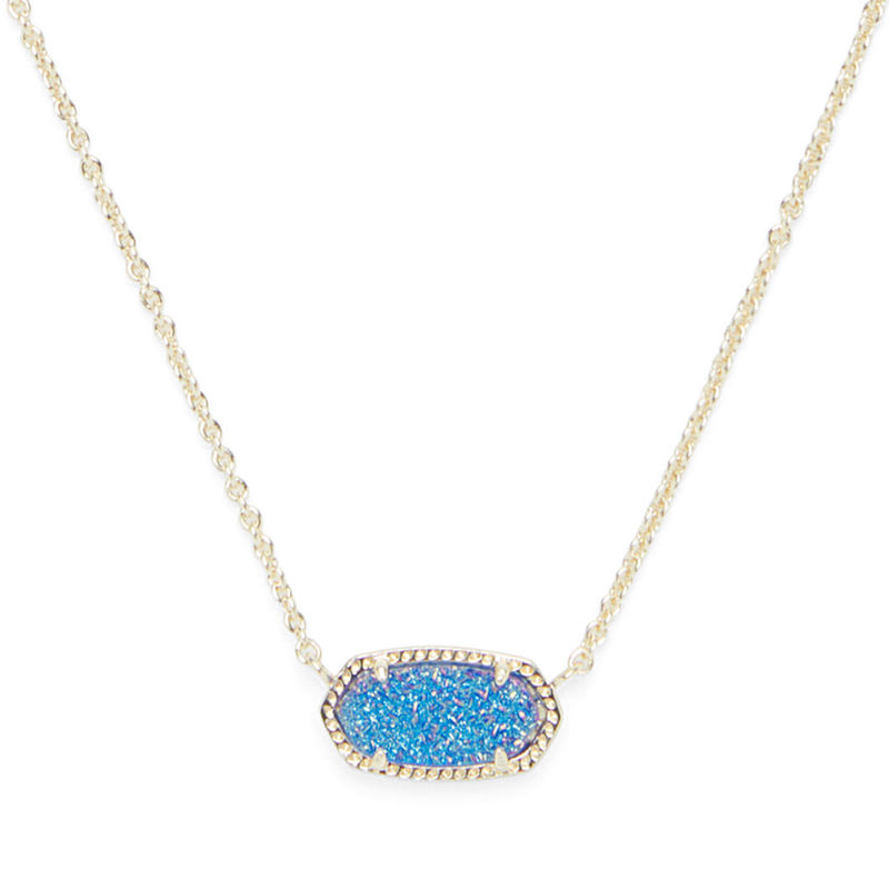 Kendra Scott Elisa Necklace in Gold and Cobalt Druzy