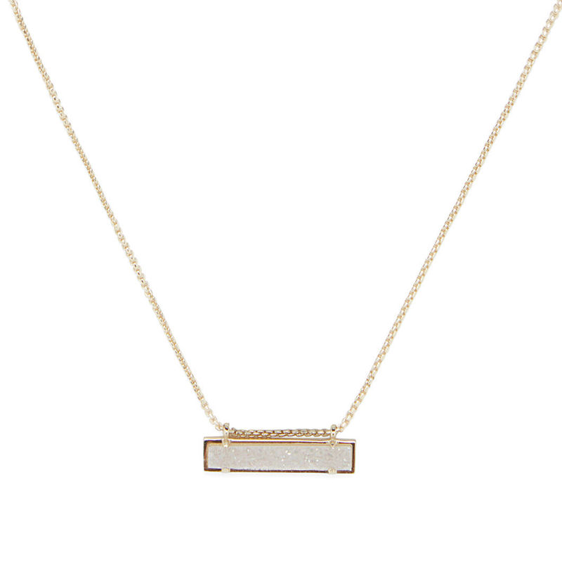 Kendra Scott Leanor Necklace in Gold and Iridescent Drusy