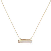 Model Content for Kendra Scott Leanor Necklace in Gold and Iridescent Drusy