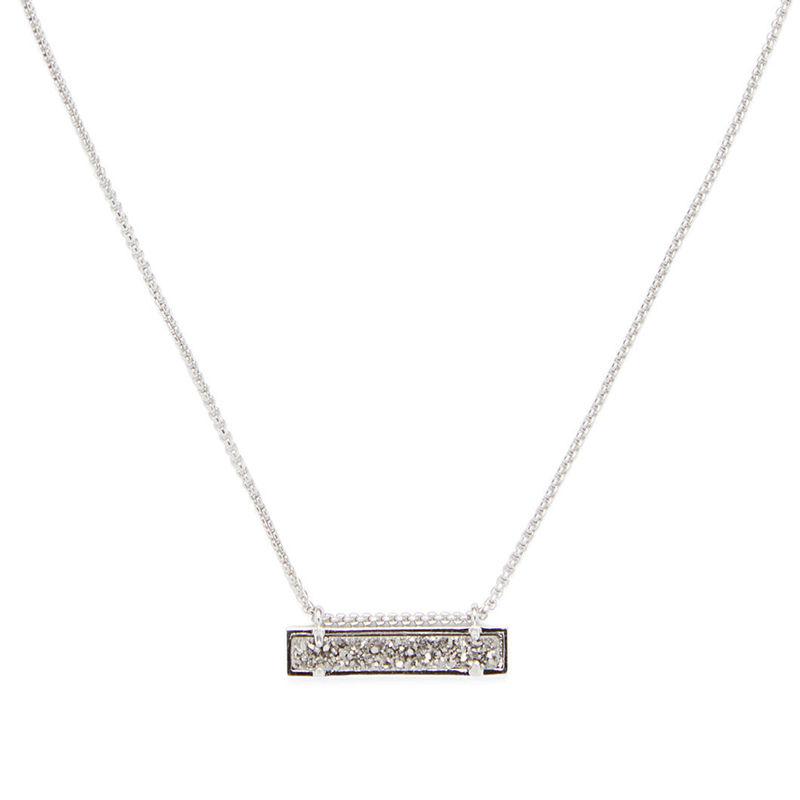 Kendra Scott Leanor Bar Pendant Necklace In Platinum Drusy