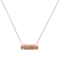 Model Content for Kendra Scott Leanor Necklace in Rose Gold and Rose Drusy