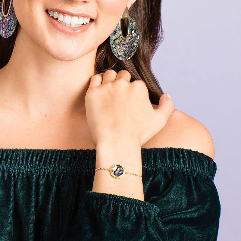 User Generated Content for Ava Rose Cheyenne Bracelet in Gold with Abalone