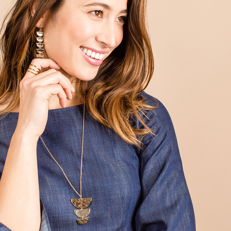 User Generated Content for Aster Azalea Pendant Necklace in Gold