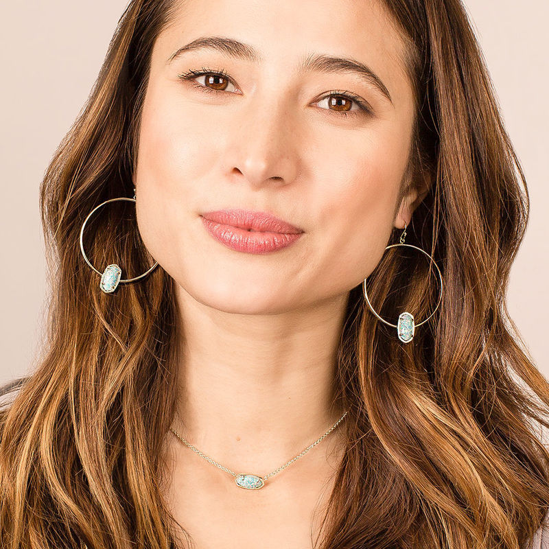 User Generated Content for Kendra Scott Elora Earrings in Gold and Iridescent Druzy