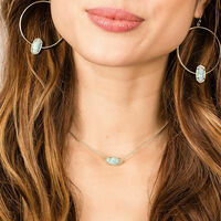 User Generated Content for Kendra Scott Elisa Silver Necklace in Iridescent Drusy