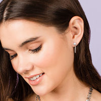 User Generated Content for Sophie Harper Star Studs with chain drop in Rose Gold