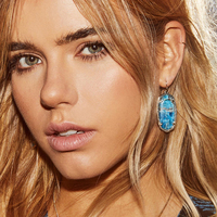 User Generated Content for Kendra Scott Elle Earrings in White Banded Agate