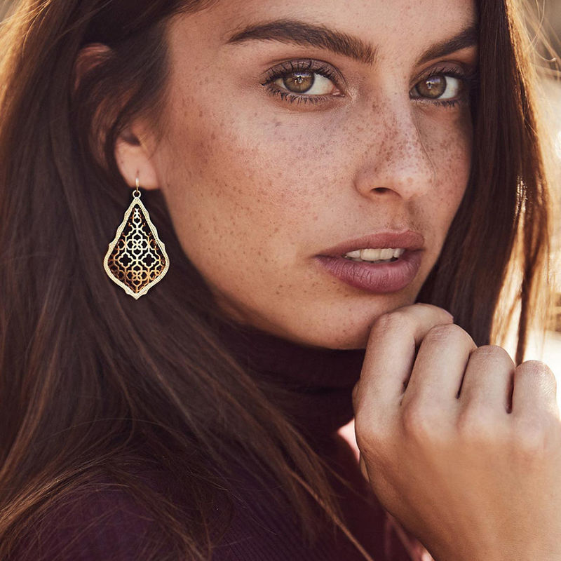 User Generated Content for Kendra Scott Addie Earrings in Gold and Gunmetal
