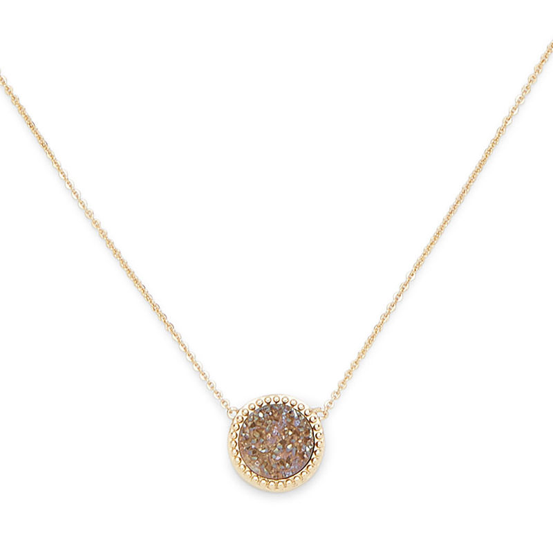 Ava Rose Cheyenne Necklace in Gold and Sepia Druzy